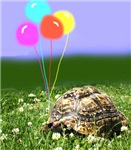 LEOPARD TORTOISE WITH BALLOONS