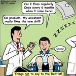 Dentist Flossing