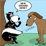 Dog Meets Skunk