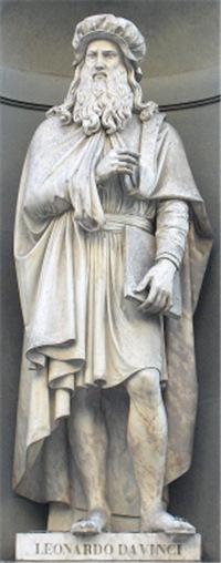Statue of da Vinci