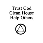 Trust God Clean House Help Others (Light)