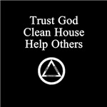 Trust God Clean House Help Others (Dark)
