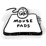 Stinky Stevens Mouse Pads