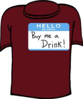 Hello My Name is Buy Me A Drink Funny T-shirts