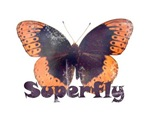 Vintage Distressed Superfly Butterfly