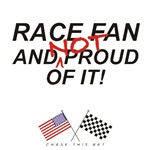 AMERICAN & CHECKERED FLAG<br />NOT PROUD RACE FAN