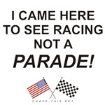 AMERICAN & CHECKERED FLAG<BR/>RACING NOT A PARADE