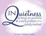 ACIM-In Quietness