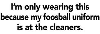 Foosball Uniform