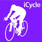Cycling iCycle Purple Silhouette