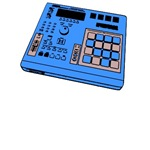 MPC Style Drum Machine Angled (Various Colors)