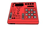 MPC-like Drum Machine Front (Various Colors)