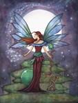 Spinning Stars Fairy Fantasy Art