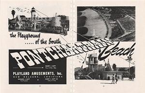 1951 Pontchartrain Beach Ad