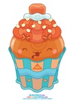 Kawaii Papaya Cupcake