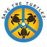 PEACE & TURTLE LOGO TOTES, BEARS & MUGS