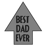 BEST DAD EVER ARROW CUTE AND FUNNY DAD DESIGN