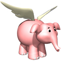 Cute 3D Flying Elephant