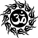 Tribal Om Symbol