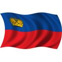 Wavy Liechtenstein Flag