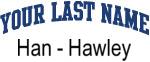 Blue Surname Design Han - Hawley