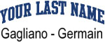 Blue Surname Design Gagliano - Germain