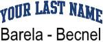 Blue Surname Design Barela - Becnel
