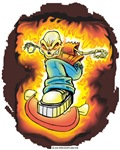 Ghost Rider Skateboarder