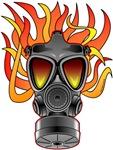 Flaming Gas Mask