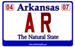 Arkansas License Plate