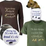 Therapy Pet Buttons, T-shirts, Stickers and more