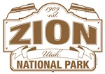 Zion National Park Brown Sign