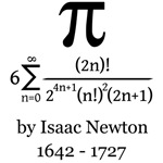 Pi by Sir Isaac Newton