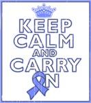Intestinal Cancer Keep Calm Carry On Shirts