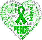 Bile Duct Cancer Heart Words Shirts