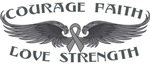 Brain Cancer Courage Wings Shirts