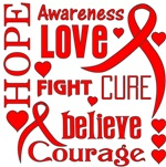 Blood Cancer Hope Words Shirts