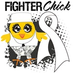 Mesothelioma Fighter Chick Shirts