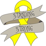 Testicular Cancer Standing Strong Shirts