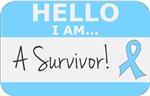 Prostate Cancer Hello I'm A Survivor Shirts
