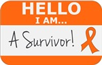 Leukemia Hello I'm A Survivor Shirts