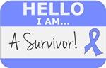 Intestinal Cancer Hello I'm A Survivor Shirts