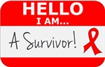 Blood Cancer Hello I'm A Survivor Shirts