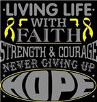 Ewings Sarcoma Living Life With Faith Shirts
