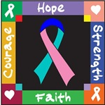 Thyroid Cancer Courage Hope Shirts