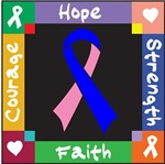 Male Breast Cancer Courage Hope Shirts