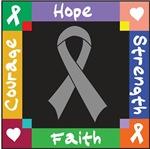 Brain Tumor Courage Hope Shirts