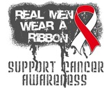 Oral Cancer Real Men Wear a Ribbon Shirts