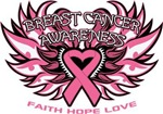 Breast Cancer Awareness Wings Shirts & Gifts