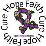 Fibromyalgia Hope Faith Cure Shirts